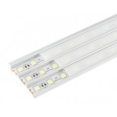 Алюминиевый профиль 9 х 56.6 х 2000 мм. с матовым экраном и аксессуарами (LR45-M) Led-Crystal LR45-M