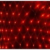 Гирлянда Сетка уличная, 144 LED, 1.5х1 м., красный