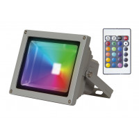 Светодиодный прожектор PFL-10W/ RGB-RC/GR Jazzway