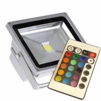 Светодиодный прожектор PFL- 20W/ RGB-RC/GR Jazzway