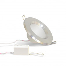 Светодиодный точечный светильник TH-100-5W Теплый белый d100 мм (Хром корпус)-320lm (B-05--R) (D-05-L)